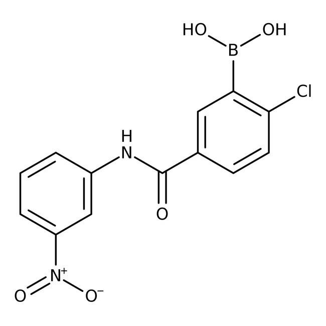 Alfa Aesar™2-Chloro-5-(3-nitrophenylcarbamoyl)benzeneboronic acid, 97% 250mg products