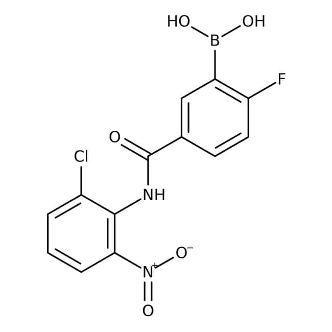 Alfa Aesar™5-(2-Chlor-6-Nitrophenylcarbamoyl)-2-Fluorbenzenboronsäure, 97% 1g Produkte
