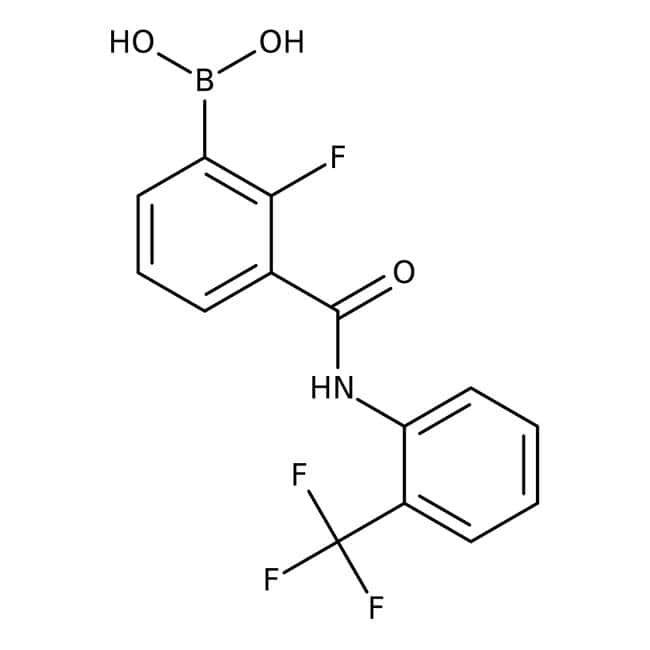 2-Fluoro-3-[2-(trifluoromethyl)phenylcarbamoyl]benzeneboronic acid, 97%, Alfa Aesar™ 1g Ver productos