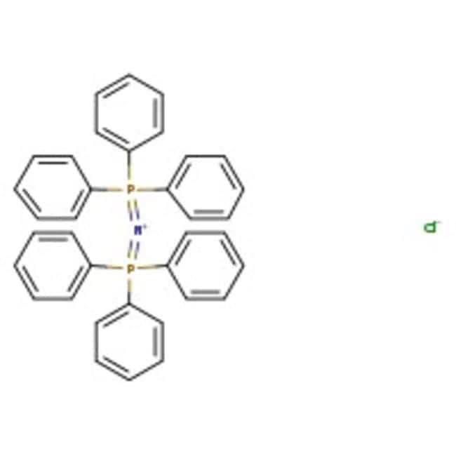 Alfa Aesar™Bis(triphenylphosphoranylidene)ammonium chloride, 97% (dry wt.), water <3% 5g prodotti trovati