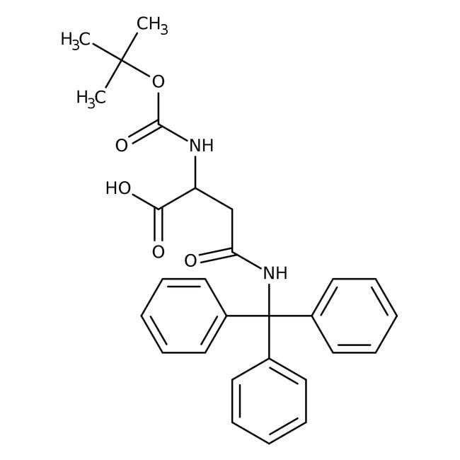 Alfa Aesar™Nalpha-Boc-Ngamma-trityl-D-asparagine, 95% 250mg Alfa Aesar™Nalpha-Boc-Ngamma-trityl-D-asparagine, 95%