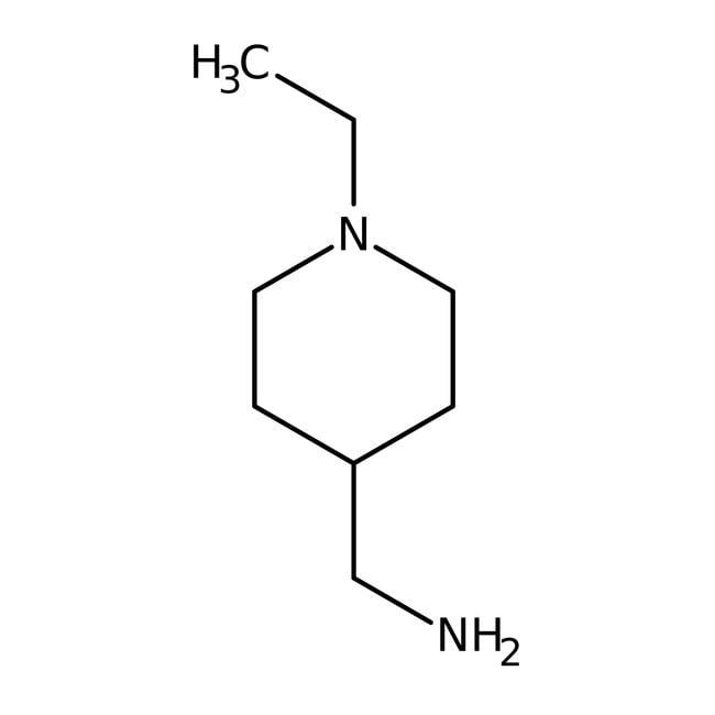 (1-Ethyl-4-piperidinyl)methanamine, 97%, Maybridge™ Amber Glass Bottle; 1g (1-Ethyl-4-piperidinyl)methanamine, 97%, Maybridge™