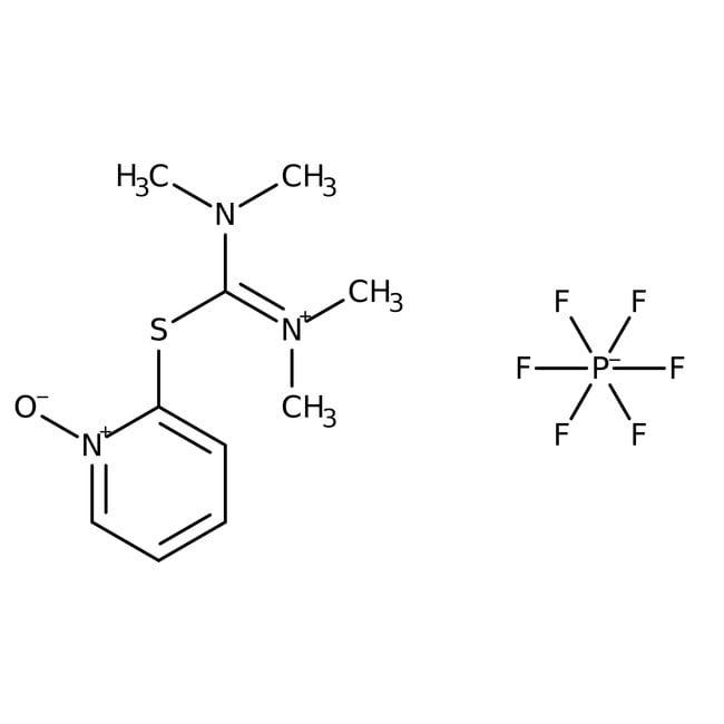 N,N,N',N'-Tetramethyl-S-(1-oxido-2-pyridyl)thiuronium hexafluorophosphate, 97%, ACROS Organics™ 5g N,N,N',N'-Tetramethyl-S-(1-oxido-2-pyridyl)thiuronium hexafluorophosphate, 97%, ACROS Organics™