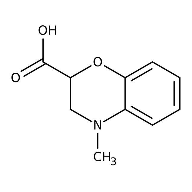4-Methyl-3,4-dihydro-2H-1,4-benzoxazine-2-carboxylic acid, 97%, Maybridge™