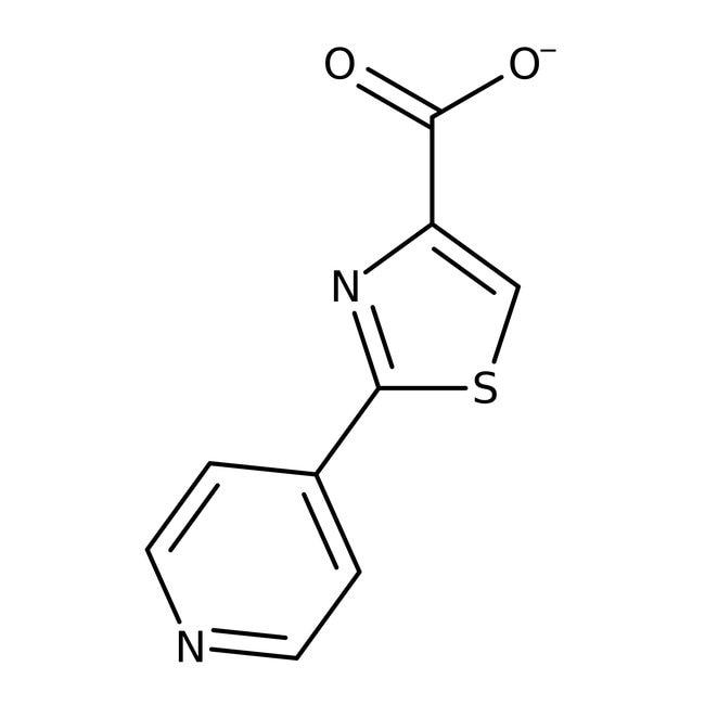 2-(4-pyridyl)-1,3-thiazole-4-carboxylic acid, Acros Organics Amber Glass Bottle; 250mg 2-(4-pyridyl)-1,3-thiazole-4-carboxylic acid, Acros Organics