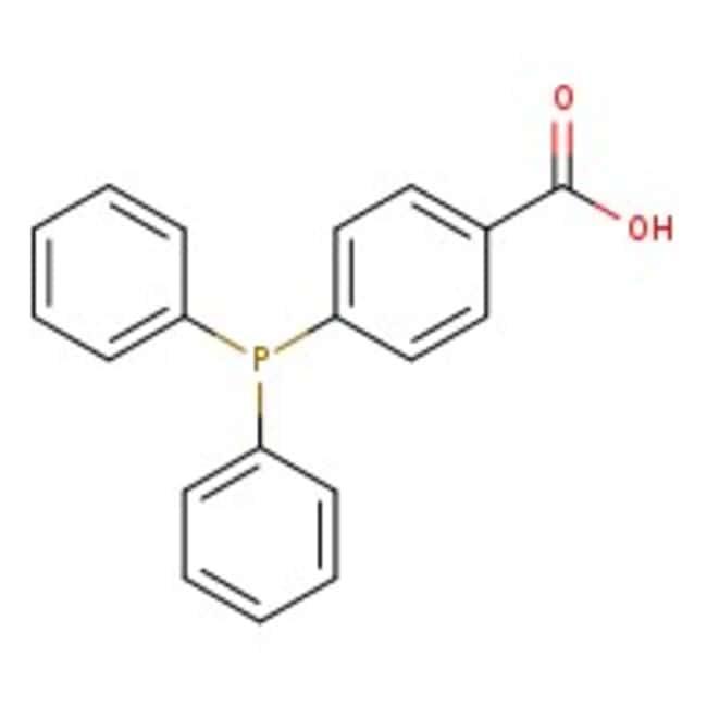 4-(Diphenylphosphino)benzoic acid, 97%, Acros Organics™ Glass bottle; 5g 4-(Diphenylphosphino)benzoic acid, 97%, Acros Organics™