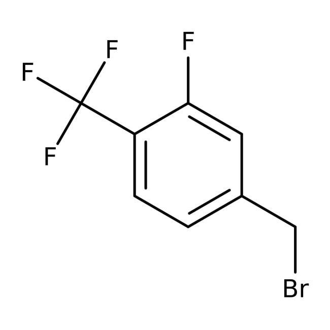 Alfa Aesar™Bromuro de 3-fluoro-4-(trifluorometil)bencilo, 97% 1g Alfa Aesar™Bromuro de 3-fluoro-4-(trifluorometil)bencilo, 97%