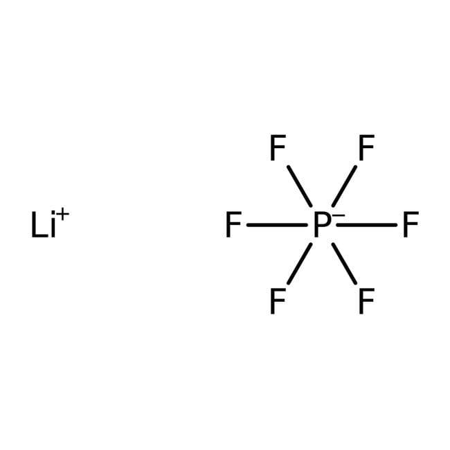 Lithium hexafluorophosphate, 98%, pure, ACROS Organics