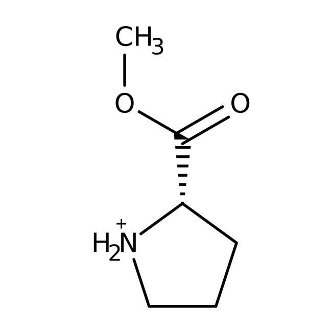 L-Proline methyleester hydrochloride, 98%, ACROS Organics™ 25g; Glass bottle L-Proline methyleester hydrochloride, 98%, ACROS Organics™
