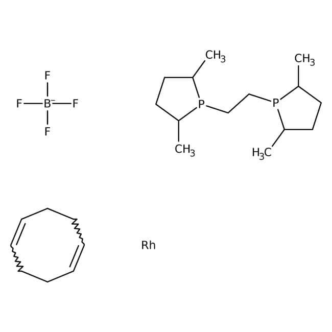 1,2-Bis((2S,5S)-2,5-dimethylphospholano)ethane(cyclooctadiene)rhodium(I) tetrafluoroborate, 97%, ACROS Organics™