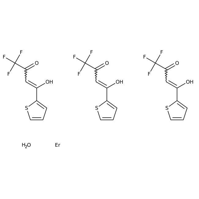 Europium(III) thenoyltrifluoroacetonate, trihydrate, 95%, ACROS Organics™ 5g Europium(III) thenoyltrifluoroacetonate, trihydrate, 95%, ACROS Organics™