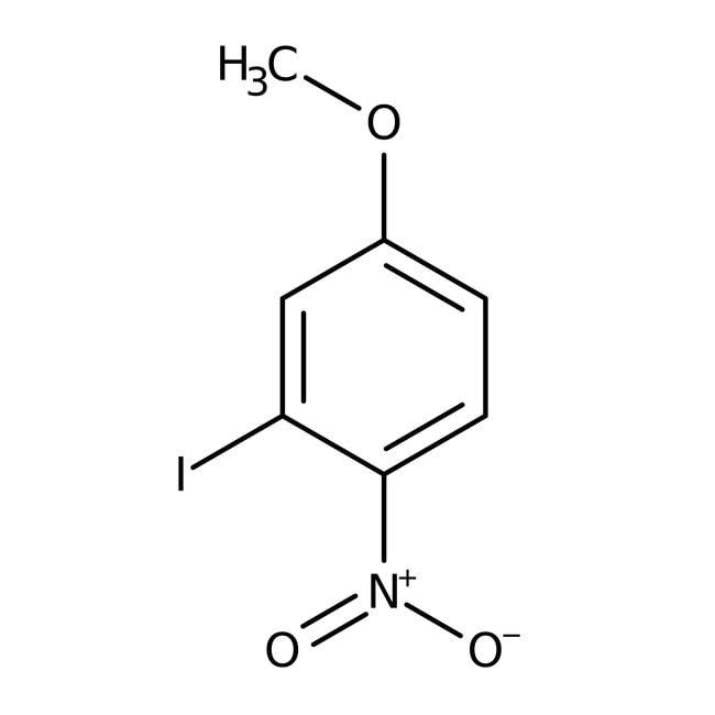 3-Iodo-4-nitroanisole, 97%, ACROS Organics™ 25g; Glass bottle 3-Iodo-4-nitroanisole, 97%, ACROS Organics™