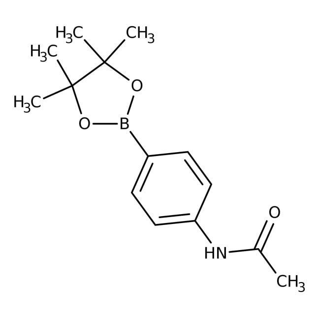 4'-(4,4,5,5-Tetramethyl-1,3,2-dioxaborolan-2-yl)acetanilide,  97%, Acros Organics