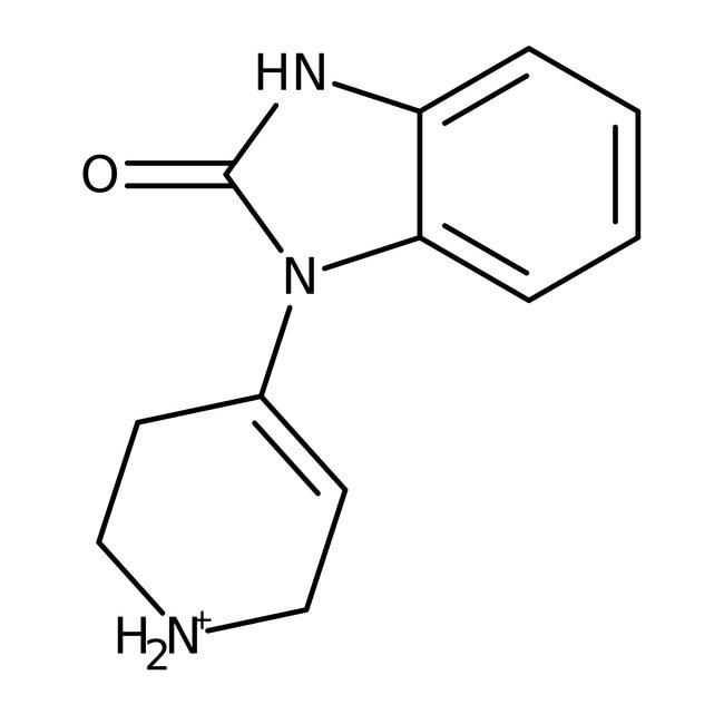 1,3-Dihydro-1-(1,2,3,6-tetrahydro-4-pyridinyl)-2H-benzimidazole-2-one, 97%, ACROS Organics™ 5g; Glass bottle 1,3-Dihydro-1-(1,2,3,6-tetrahydro-4-pyridinyl)-2H-benzimidazole-2-one, 97%, ACROS Organics™