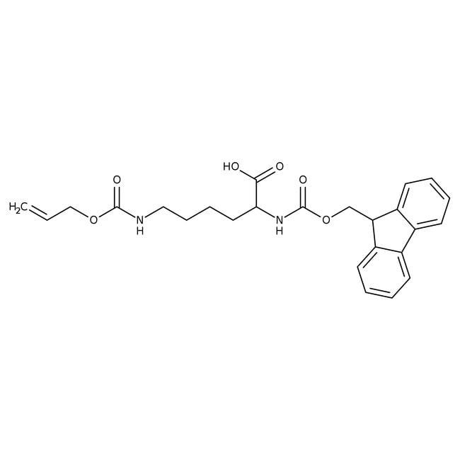 Alfa Aesar™Nepsilon-Allyloxycarbonyl-Nalpha-Fmoc-D-lysine, 95% 1g Alfa Aesar™Nepsilon-Allyloxycarbonyl-Nalpha-Fmoc-D-lysine, 95%