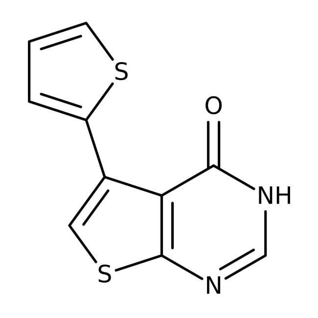 5-(2-Thienyl)-thieno[2,3-d]-pyrimidin-4(3H)-on, 97%, Alfa Aesar™ 1g 5-(2-Thienyl)-thieno[2,3-d]-pyrimidin-4(3H)-on, 97%, Alfa Aesar™