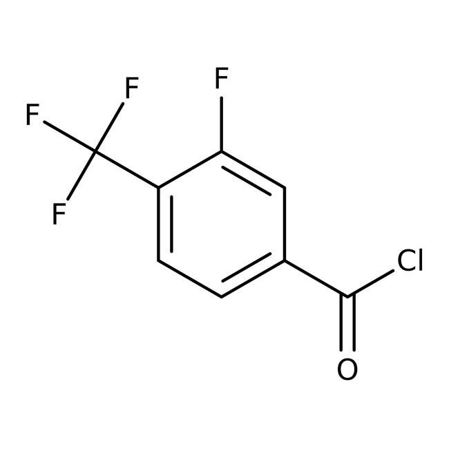 3-Fluoro-4-(trifluoromethyl)benzoyl chloride, 97%, ACROS Organics