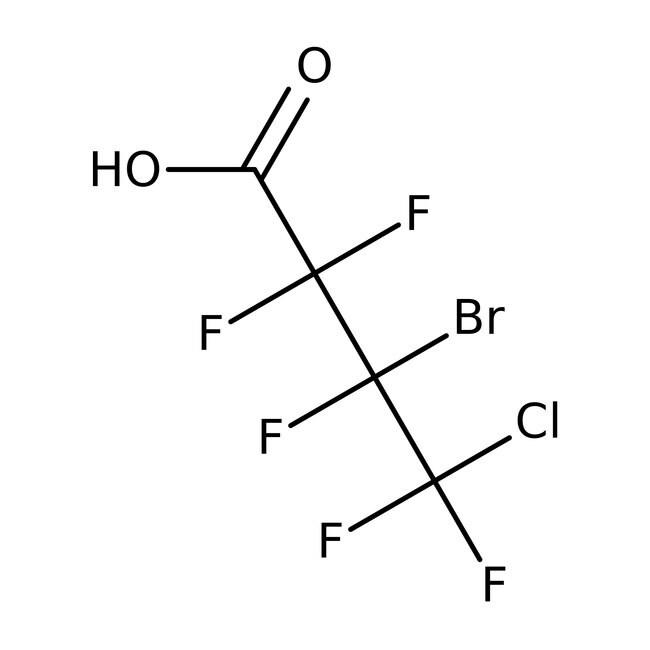 Alfa Aesar™3-Bromo-4-chloropentafluorobutyric acid, 97% 5g Alfa Aesar™3-Bromo-4-chloropentafluorobutyric acid, 97%