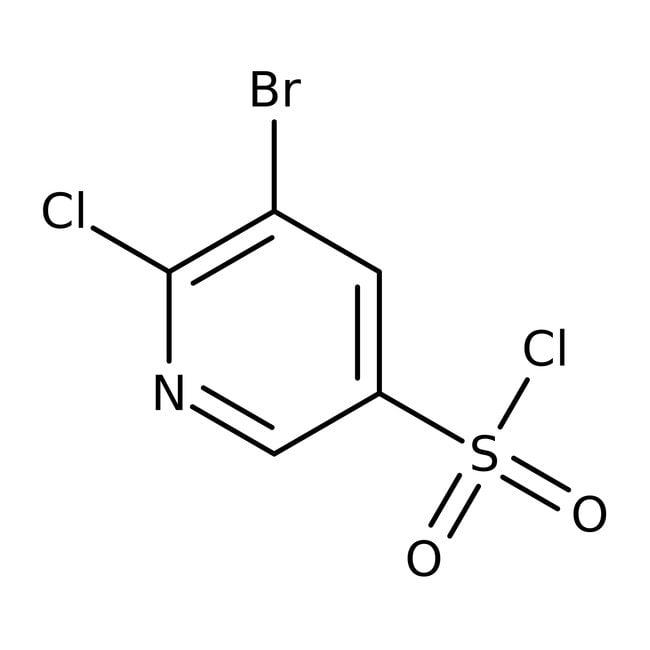 Alfa Aesar™3-Brom-2-chlorpyridin-5-sulfonylchlorid, 96% 5g Alfa Aesar™3-Brom-2-chlorpyridin-5-sulfonylchlorid, 96%