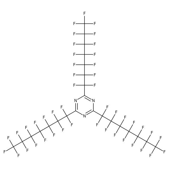Alfa Aesar™2,4,6-tris(perfluoroheptyl)-1,3,5-triazine, Spéc. de masse std 500mg Alfa Aesar™2,4,6-tris(perfluoroheptyl)-1,3,5-triazine, Spéc. de masse std