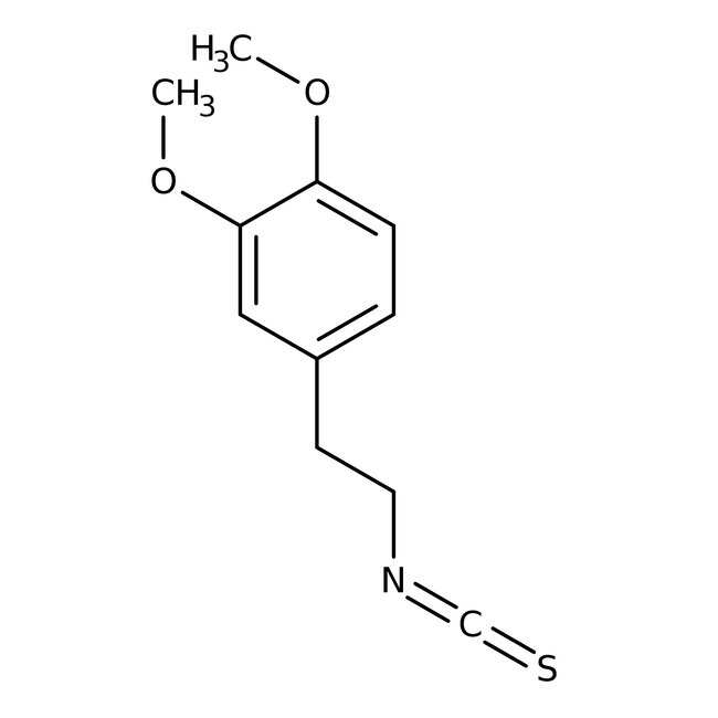 3,4-Dimethoxyphenethyl isothiocyanate, 95%, Maybridge 1g 3,4-Dimethoxyphenethyl isothiocyanate, 95%, Maybridge