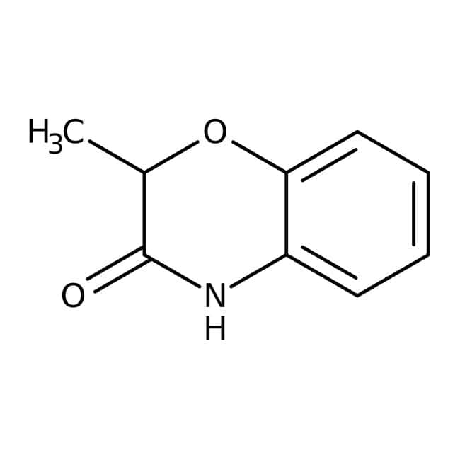 Alfa Aesar™2-Methyl-2H-1,4-benzoxazin-3(4H)-one, 97% 250mg Alfa Aesar™2-Methyl-2H-1,4-benzoxazin-3(4H)-one, 97%