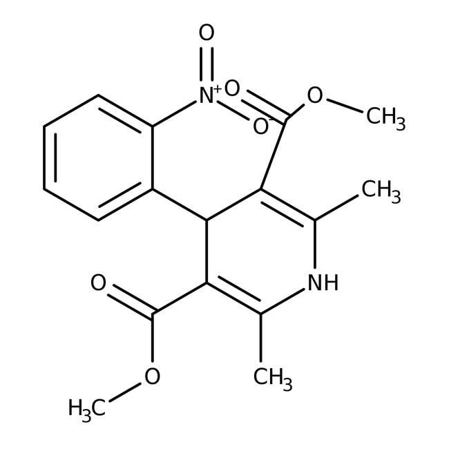 Nifedipine, ACROS Organics™ 25g; Glass bottle Nifedipine, ACROS Organics™