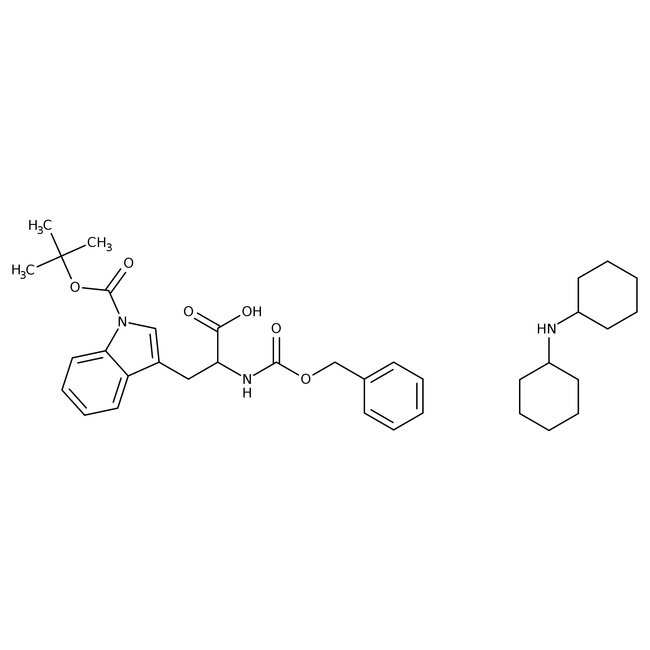 Alfa Aesar™N-Benzyloxycarbonyl-1-Boc-L-tryptophan dicyclohexylammonium salt, 98% 5g Alfa Aesar™N-Benzyloxycarbonyl-1-Boc-L-tryptophan dicyclohexylammonium salt, 98%