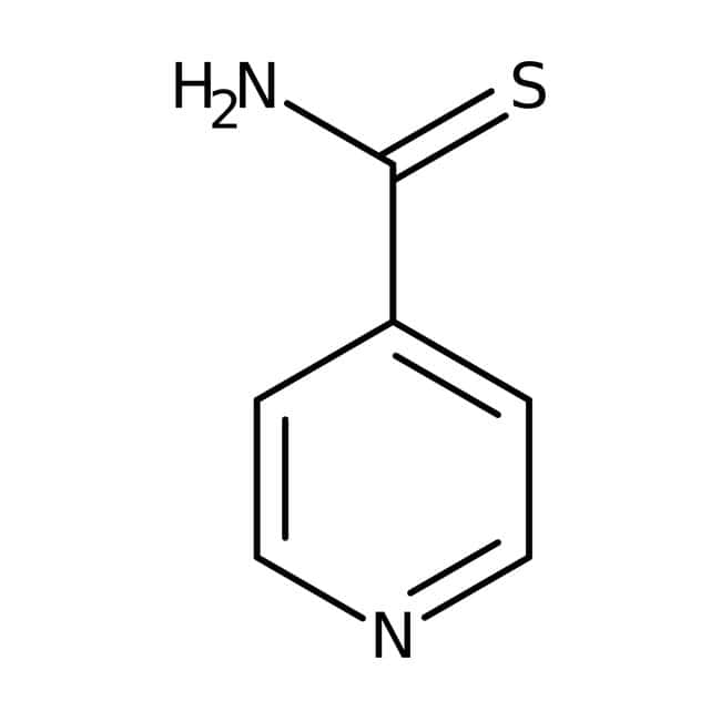 Thioisonicotinamide, 97%, ACROS Organics™ 5g; Glass bottle Thioisonicotinamide, 97%, ACROS Organics™