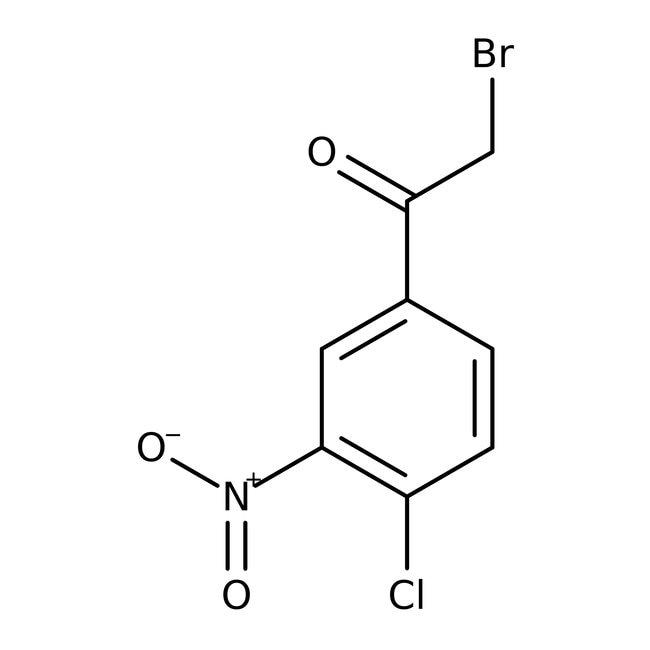 2-Bromo-1-(4-chloro-3-nitrophenyl)ethan-1-one, Technical Grade, Maybridge™ Amber Glass Bottle; 1g 2-Bromo-1-(4-chloro-3-nitrophenyl)ethan-1-one, Technical Grade, Maybridge™