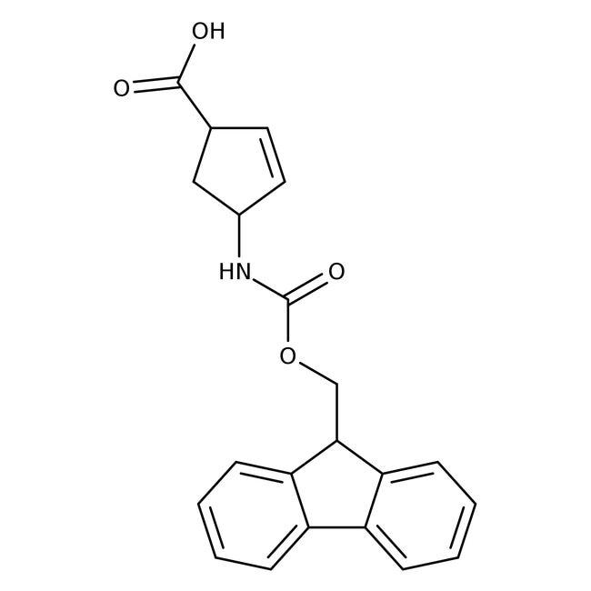 (1S,4R)-N-FMOC-1-Aminocyclopent-2-ene-4-carboxylic acid, 95%, 98% e.e., ACROS Organics