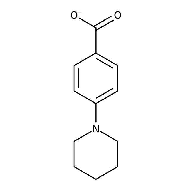 Acide 4-pipéridinobenzoïque, 97%, Maybridge Flacon en verre ambré ; 1g Acide 4-pipéridinobenzoïque, 97%, Maybridge