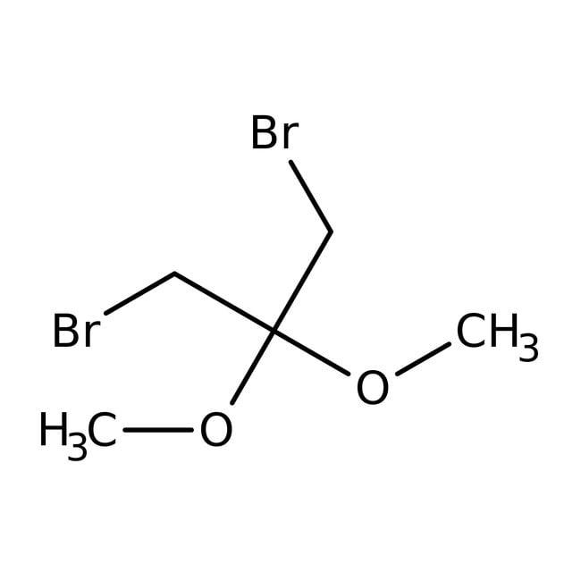 Alfa Aesar™1,3-Dibromo-2,2-dimethoxypropane, 99% 25g prodotti trovati