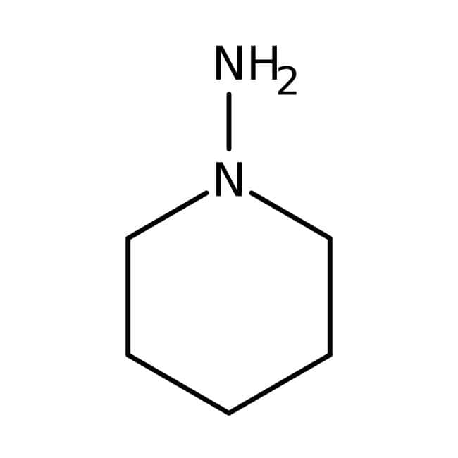1-Aminopiperidine, 97%, ACROS Organics™ Glass bottle; 25g 1-Aminopiperidine, 97%, ACROS Organics™