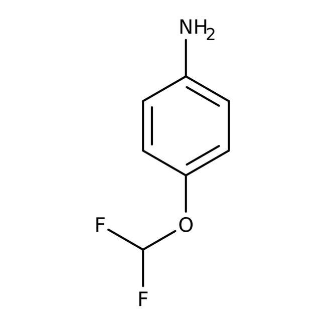 4-(Difluoromethoxy)aniline, 98%, ACROS Organics™ 1g, Glass bottle 4-(Difluoromethoxy)aniline, 98%, ACROS Organics™