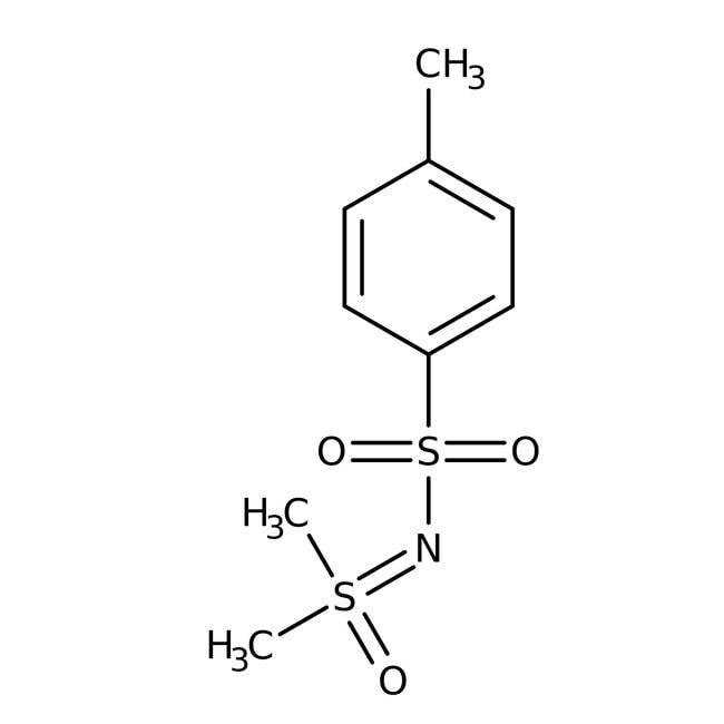 Alfa Aesar™S,S-Diméthyl-N-(p-toluènesulfonyl)sulfoximine, 98% 5g Alfa Aesar™S,S-Diméthyl-N-(p-toluènesulfonyl)sulfoximine, 98%