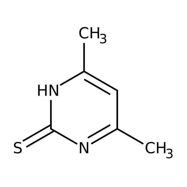Alfa Aesar™2-Mercapto-4,6-dimethylpyrimidine hydrate, 98% 50g Alfa Aesar™2-Mercapto-4,6-dimethylpyrimidine hydrate, 98%