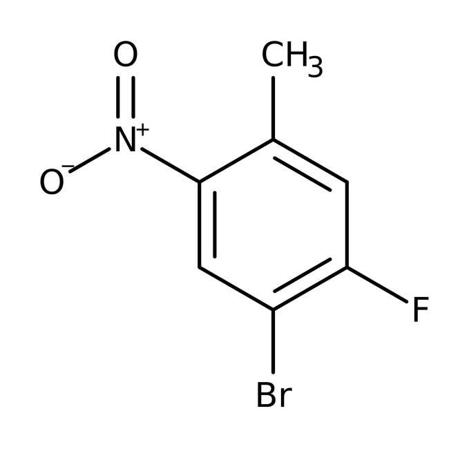 Alfa Aesar™4-Bromo-5-fluoro-2-nitrotolueno, 98% 1g Alfa Aesar™4-Bromo-5-fluoro-2-nitrotolueno, 98%