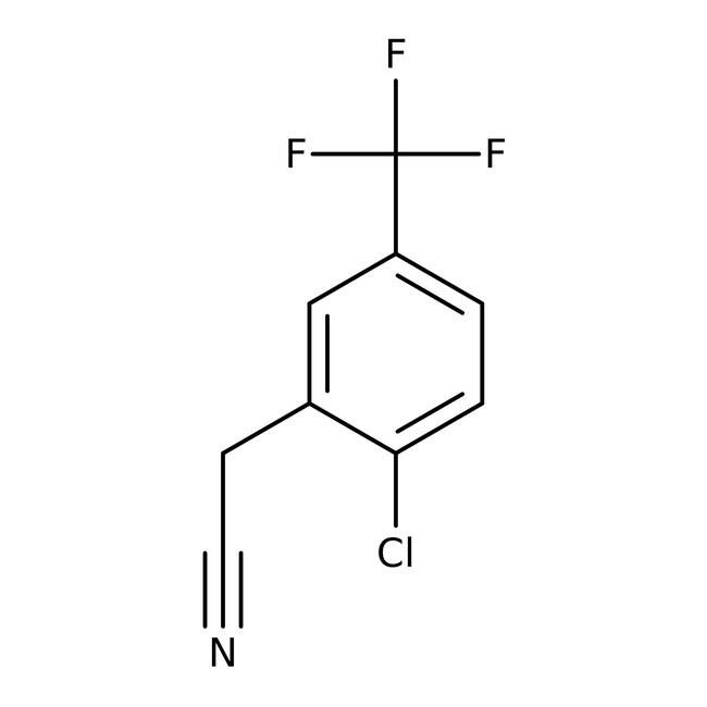 Alfa Aesar™2-Cloro-5-(trifluorometil)fenilacetonitrilo, 97% 1g Alfa Aesar™2-Cloro-5-(trifluorometil)fenilacetonitrilo, 97%
