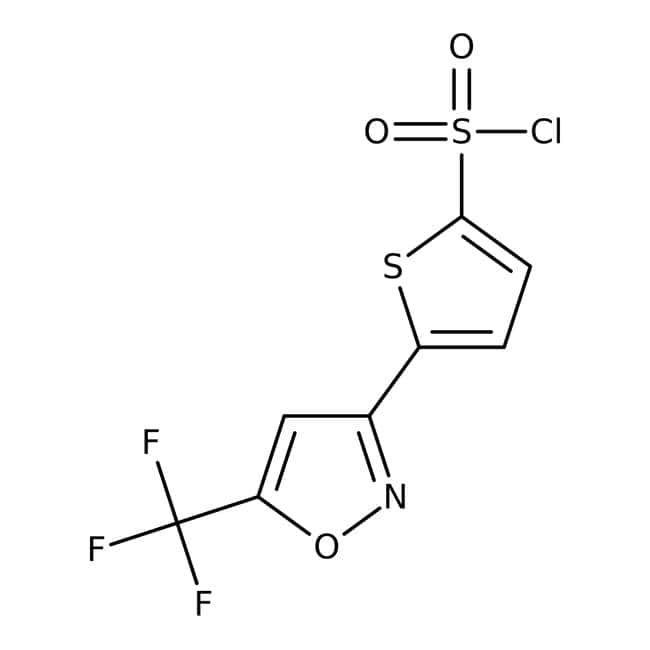 5-[5-(Trifluoromethyl)isoxazol-3-yl]thiophene-2-sulfonyl chloride, 97%, Maybridge™