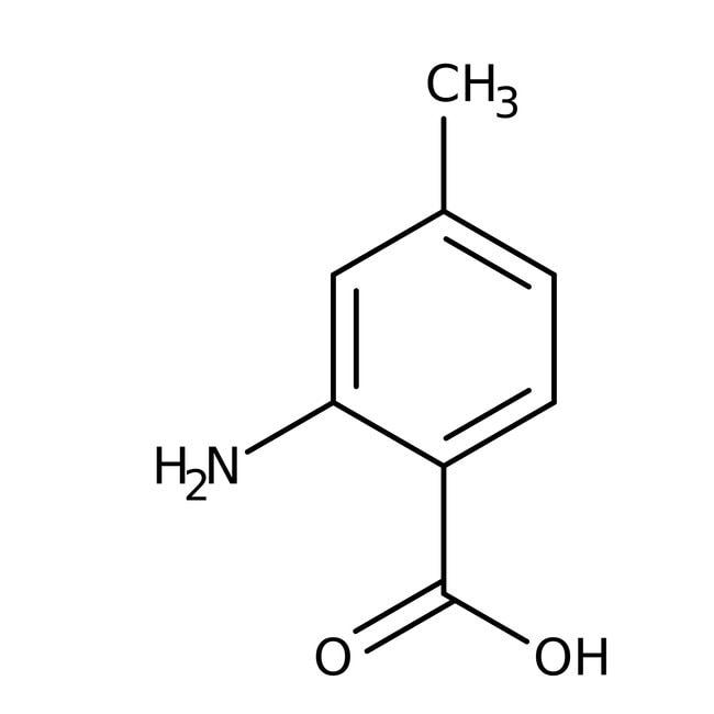 2-Amino-4-methylbenzoic acid, 95%, Maybridge™ Amber Glass Bottle; 10g 2-Amino-4-methylbenzoic acid, 95%, Maybridge™