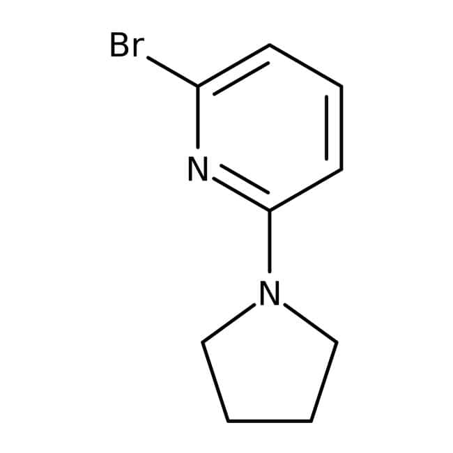 2-Bromo-6-pyrrolidin-1-ylpyridine, ≥97%, Maybridge™ Amber Glass Bottle; 250mg 2-Bromo-6-pyrrolidin-1-ylpyridine, ≥97%, Maybridge™