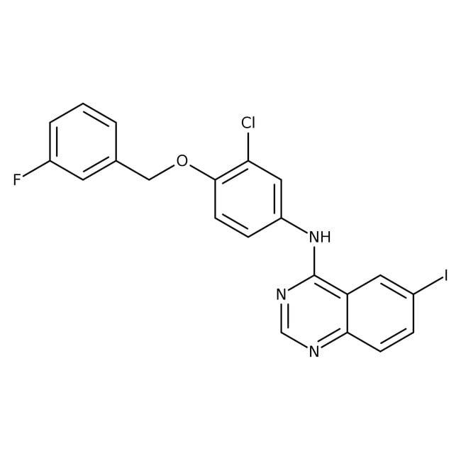 4-[3-Chloro-4-(3-fluorobenzyloxy)phenylamino]-6-iodoquinazoline, 97%, Alfa Aesar™