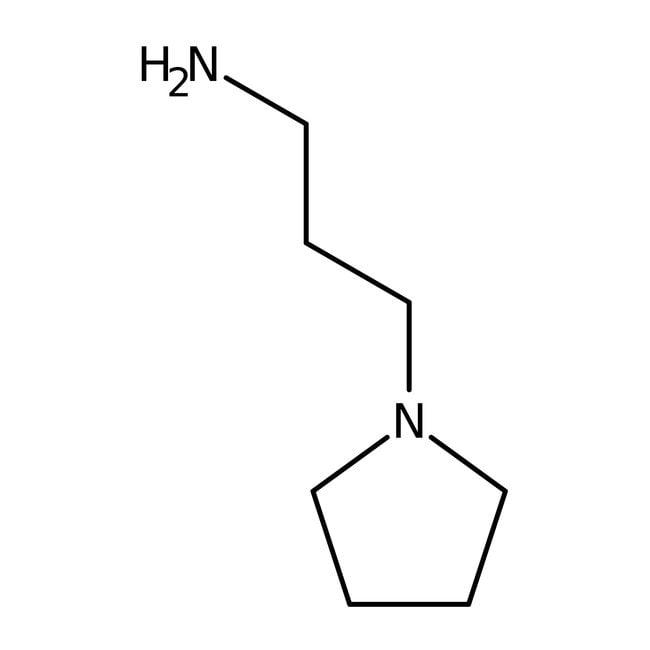 N-(3-Aminopropyl)pyrrolidine, 98%, ACROS Organics™