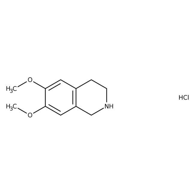 6,7-Dimethoxy-1,2,3,4-tetrahydroisoquinoline hydrochloride, 98%, ACROS Organics™ 25g; Glass bottle 6,7-Dimethoxy-1,2,3,4-tetrahydroisoquinoline hydrochloride, 98%, ACROS Organics™