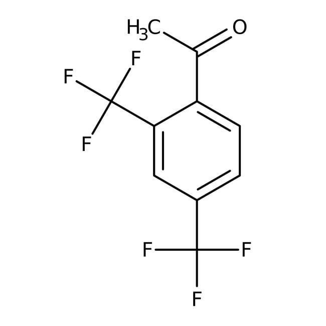 Alfa Aesar™2',4'-bis(trifluorométhyl)acétophénone, 97% 250mg Alfa Aesar™2',4'-bis(trifluorométhyl)acétophénone, 97%