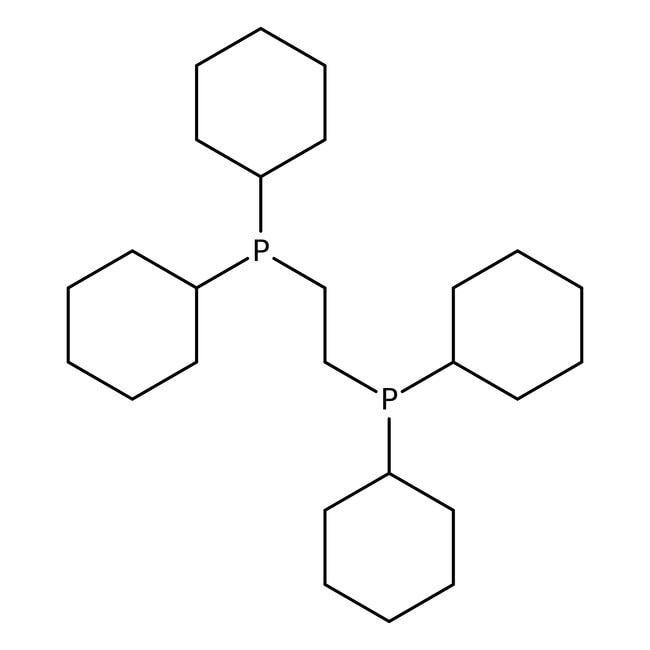 1,2-Bis(dicyclohexylphosphino)ethane, 98%, ACROS Organics™