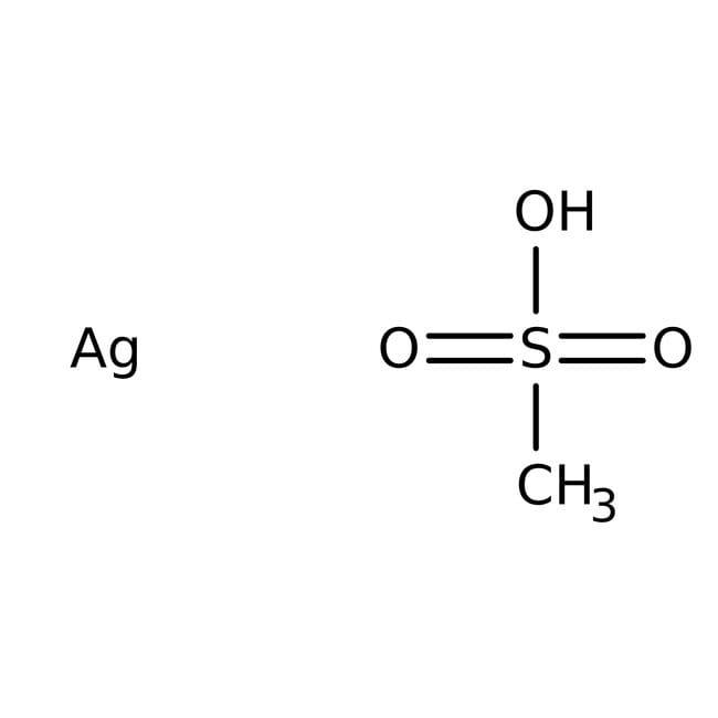 Methansulfonsäure Silbersalz, 99%, ACROS Organics™ 25 g-Glasflasche Produkte