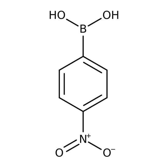 4-Nitrophenylboronic acid, 97%, ACROS Organics™ 5g; Glass bottle 4-Nitrophenylboronic acid, 97%, ACROS Organics™