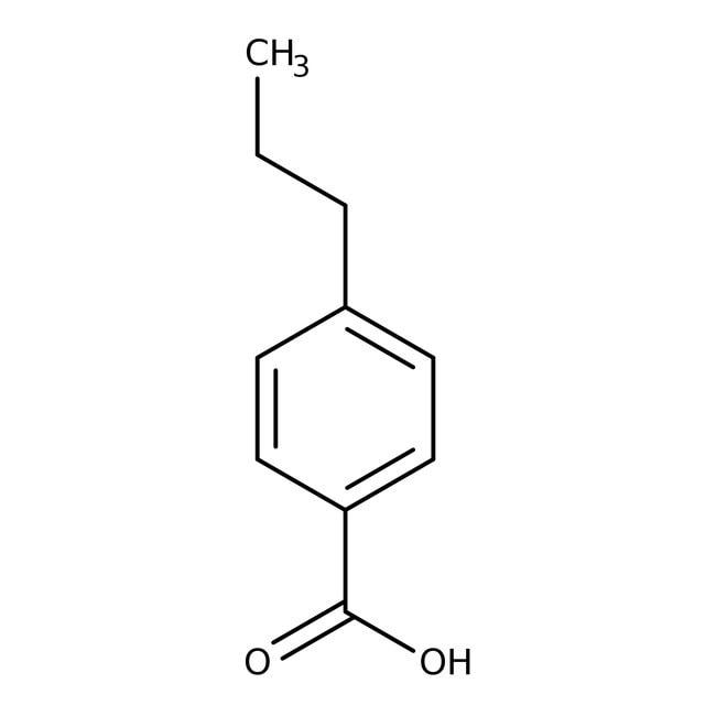 Alfa Aesar™Ácido 4-n-propilbenzoico, +98% 50g Alfa Aesar™Ácido 4-n-propilbenzoico, +98%